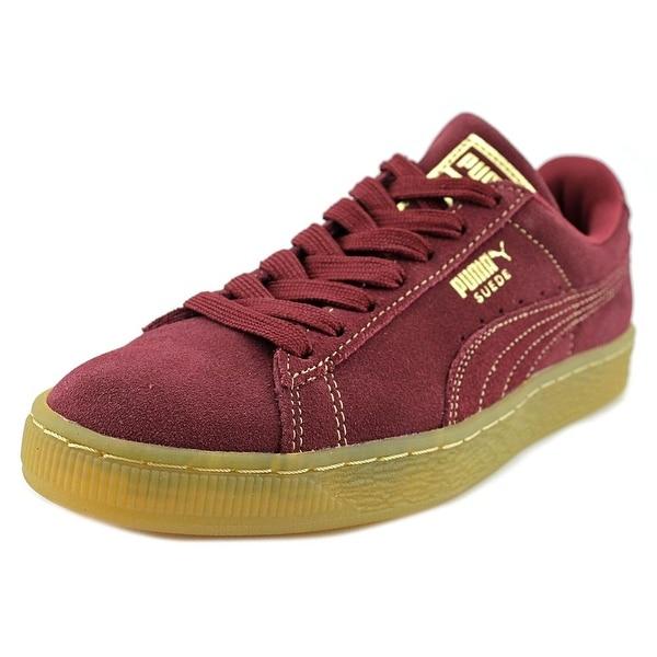 Shop Puma Suede Classic GF Men Round Toe Suede Burgundy Sneakers ... f523d0236e990