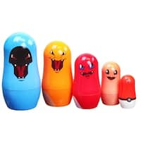 Pokemon 5-Piece Evolving Charmander Nesting Doll Set - multi