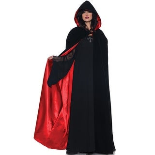 Underwraps 63 Deluxe Velvet and Satin Cape (Red) - Solid