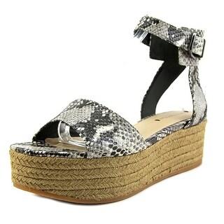Via Spiga Nemy Open Toe Leather Wedge Sandal