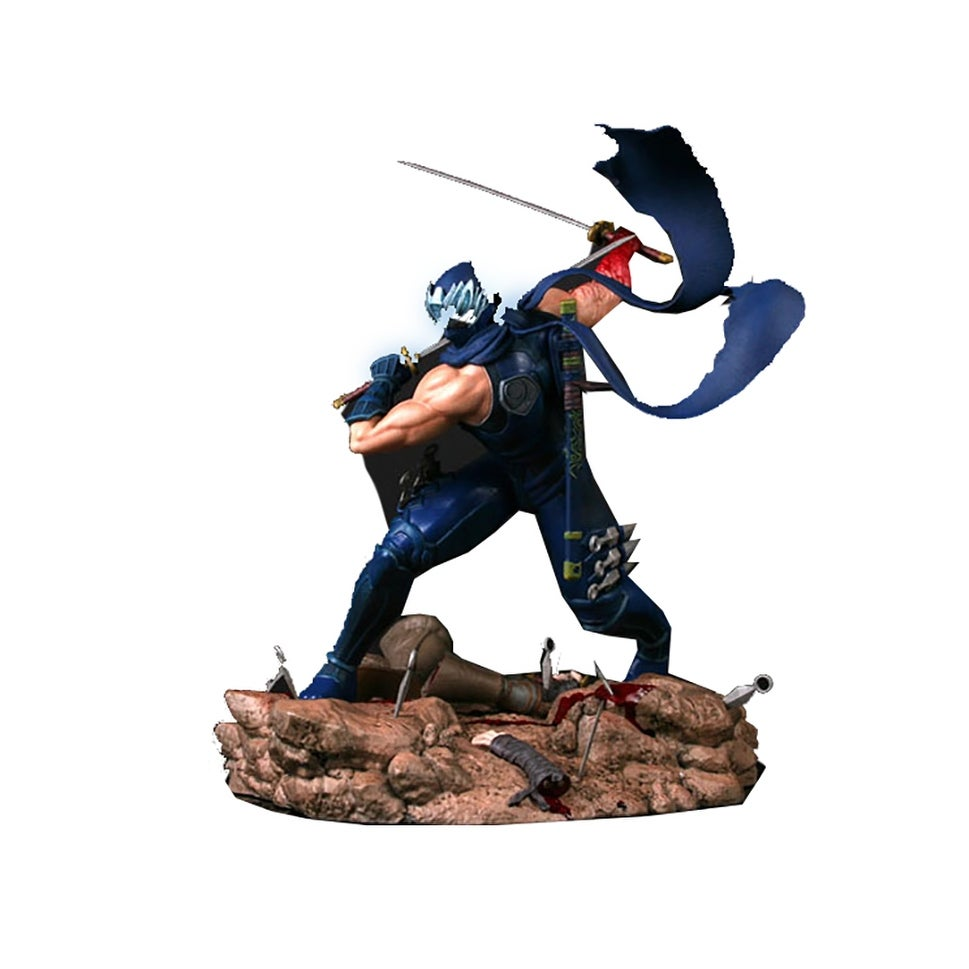 Shop Ninja Gaiden 3 13 Light Up Ryu Hayabusa Resin Statue Retro