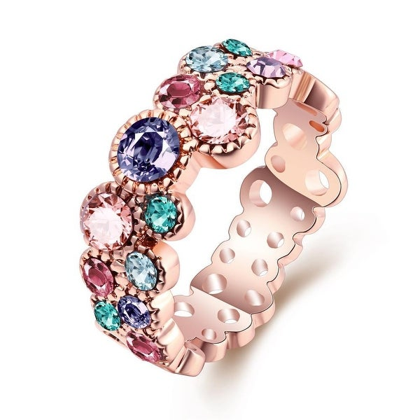 Rose Gold-Plated Sorbet Flavor Eternity Ring