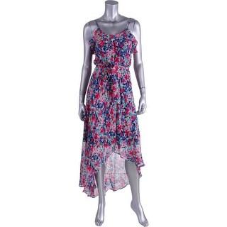 Joie Womens Floral Silk Sundress - XXS