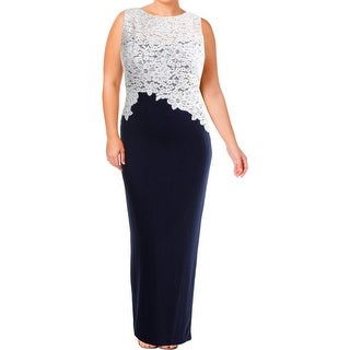 Link to Lauren Ralph Lauren Womens Zinnias Evening Dress Illusion Lace Similar Items in Dresses