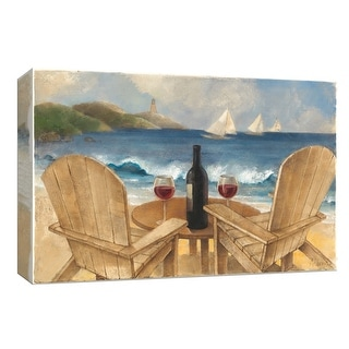 "PTM Images 9-154027  PTM Canvas Collection 8"" x 10"" - ""Wine on the Beach"" Giclee Wine Art Print on Canvas"