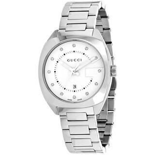 Gucci Men's GG2570 YA142403 White Dial Watch