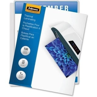 Fellowes, Inc. - Laminating Pouches Letter 7Mil 100Pk,Dds Must Be Ordered In Multiples Of Case Qt