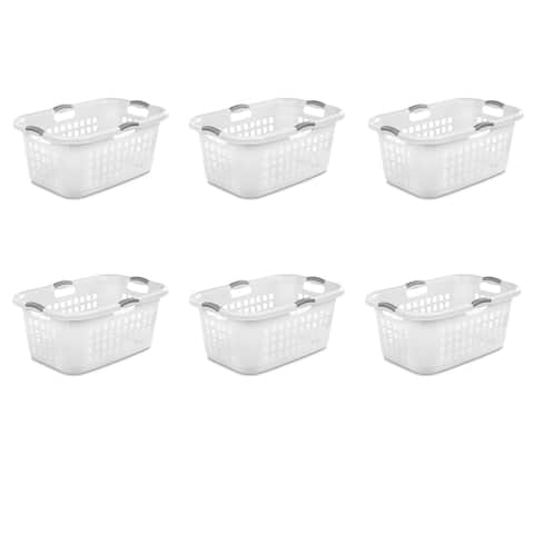 Case of 6 Sterilite 71 Liter Ultra Laundry Baskets - 2 bushel