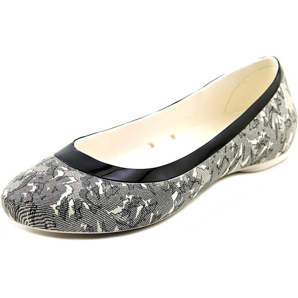 Crocs Lina Shiny Flat Women Round Toe Synthetic Flats