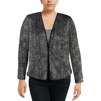 Alex Evenings Womens Plus Jacket Knit Glitter - 1X