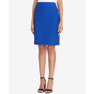 Tahari by ASL NEW Lapis Blue Womens Size 2P Petite Crinkle Pencil Skirt