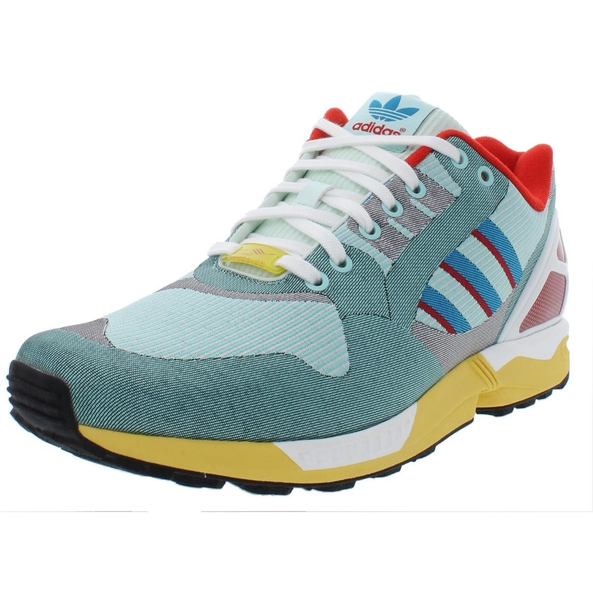 new concept 5fca2 41cfd adidas Originals Mens ZX Flux Weave Fashion Sneakers Woven Lifestyle