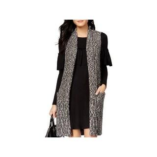 Kensie Womens Sweater Vest Marled Midi