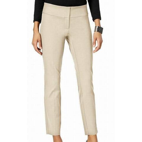 Alfani Womens Pants Beige Size 6 Slim Ankle Tummy Control Stretch