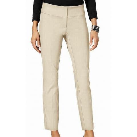 Alfani Womens Pants Polish Beige Size 6 Slim Ankle Tummy Control Stretch