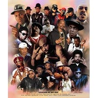 ''Legends of Hip Hop'' by Wishum Gregory African American Art Print (24 x 20 in.)