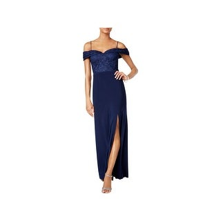 Nightway Womens Evening Dress Off-The-Shoulder Full-Length