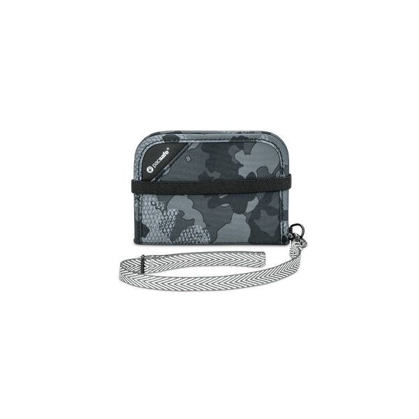 Pacsafe 10551802-Grey Camo RFIDsafe Anti-Theft V50 Blocking Compact Wallet
