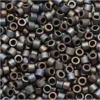 Miyuki Delica Seed Beads, 11/0 Size, 7.2 Grams, Matte Silver Grey Metallic DB307