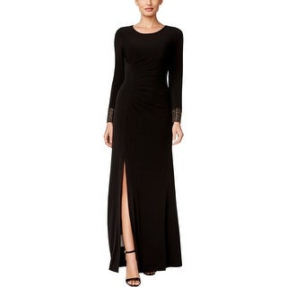 Calvin Klein Womens Evening Dress Long Sleeve Beaded - 2