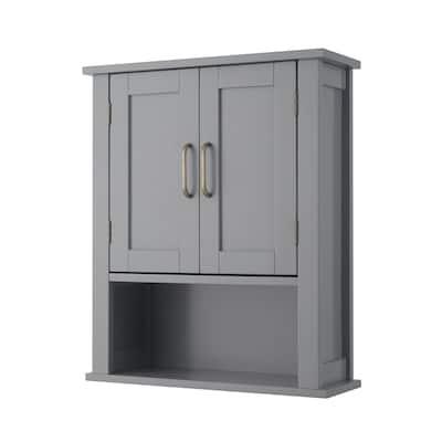 Mercer Mid Century Modern Wooden Wall-Mount Cabinet
