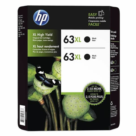 HP 63XL 2-pack Black Original Ink Cartridges L0R43BN
