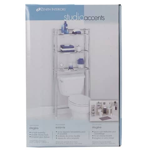 Zenna Home Studio Accents Bathroom Spacesaver Silver Steel