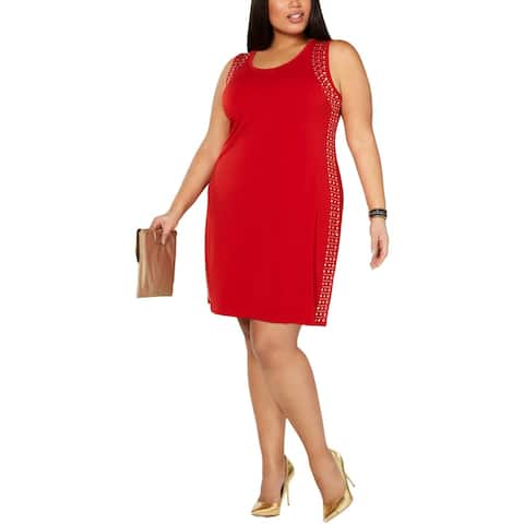 Belldini Womens Plus Sheath Dress Embellished Cocktail