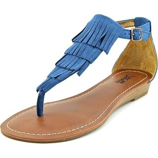 Carlos by Carlos Santana Trinidad Women Open Toe Canvas Blue Thong Sandal