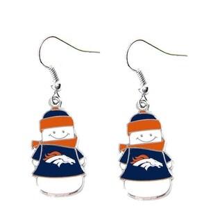 NFL Denver Broncos Snowman Dangle Logo Earring Set Charm Gift