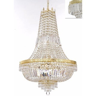 French Empire Crystal Chandelier Lighting - Gold