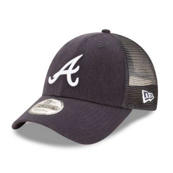 Shop New Era MLB Atlanta Braves Trucker 9Forty Adjustable Baseball Hat 940  11591214 - Free Shipping On Orders Over  45 - Overstock - 21425222 f285fa7506d5