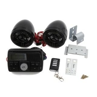 Motorcycle Handlebar Audio System USB SD Radio Speaker MP3 Player Remote Control