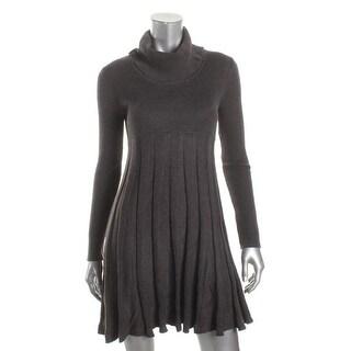 Calvin Klein Womens Petites Sweaterdress Cowl-Neck Long Sleeve - pm
