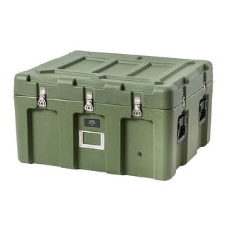 Monoprice Rotomodeled Weatherproof Case - Green (31 x 26 x 18 inches) Stackable - Pure Outdoor Collection