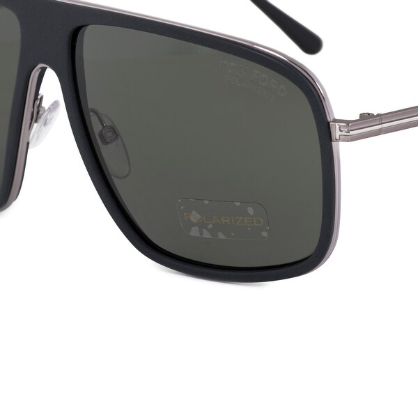 75de936cf6 Shop Tom Ford Quentin Pilot Sunglasses FT0463 02R 60 POL