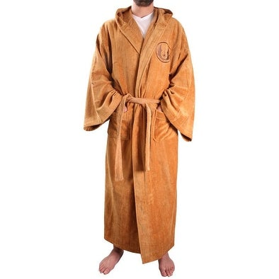 Star Wars Jedi Master Men's Hooded Bathrobe - Brown