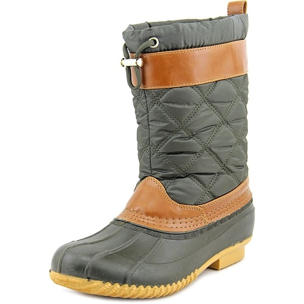 Isaac Mizrahi Sleet Round Toe Canvas Snow Boot