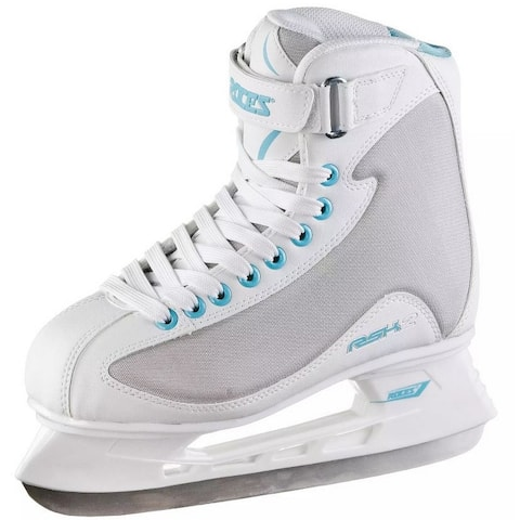 Roces Women's RSK 2 Figure Ice Skates Lace-Up Superior Italian White/Gray/Blue