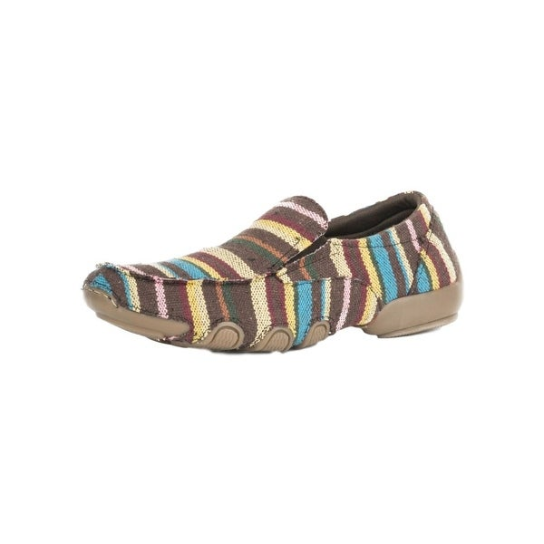 Roper Western Shoe Women Multi Color Stripes Brown