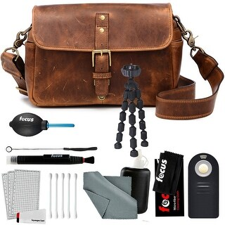 ONA Bowery Handcrafted Leather Camera Bag, Antique Cognac & Photo Accessory Kit