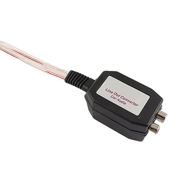 Unique Bargains Car Audio System Black RCA Female Line Out Converter