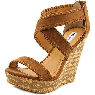 Not Rated Remi Women  Open Toe Canvas Tan Wedge Sandal