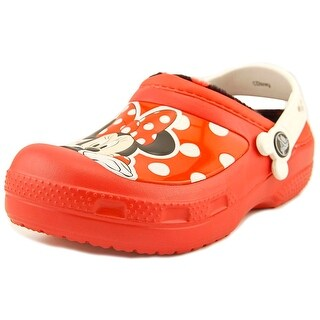 Crocs Minnie Mouse Round Toe Leather Clogs