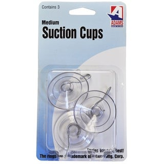 Adams 6500-74-3040 Suction Cup With Hooks, Plastic