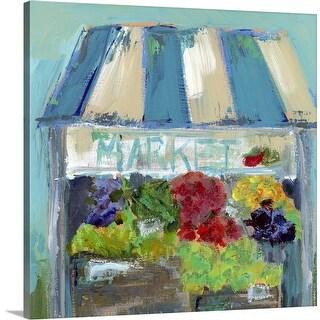 """The Market"" Canvas Wall Art"