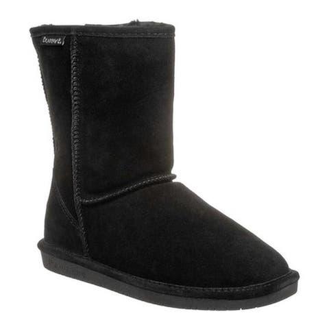 b8c513219f01 Bearpaw Women s Emma Short Wide Boot Black II Cow Suede