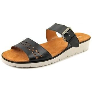 Naturalizer Daria W Open Toe Leather Slides Sandal