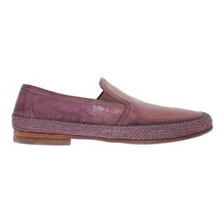Dolce & Gabbana Purple Leather Slip Loafers Moccasins - eu44-us11