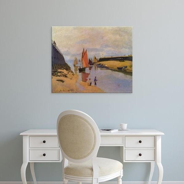 Easy Art Prints Claude Monet's 'The Port of Trouville' Premium Canvas Art